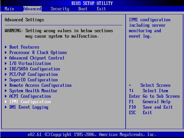 Ekran BIOS