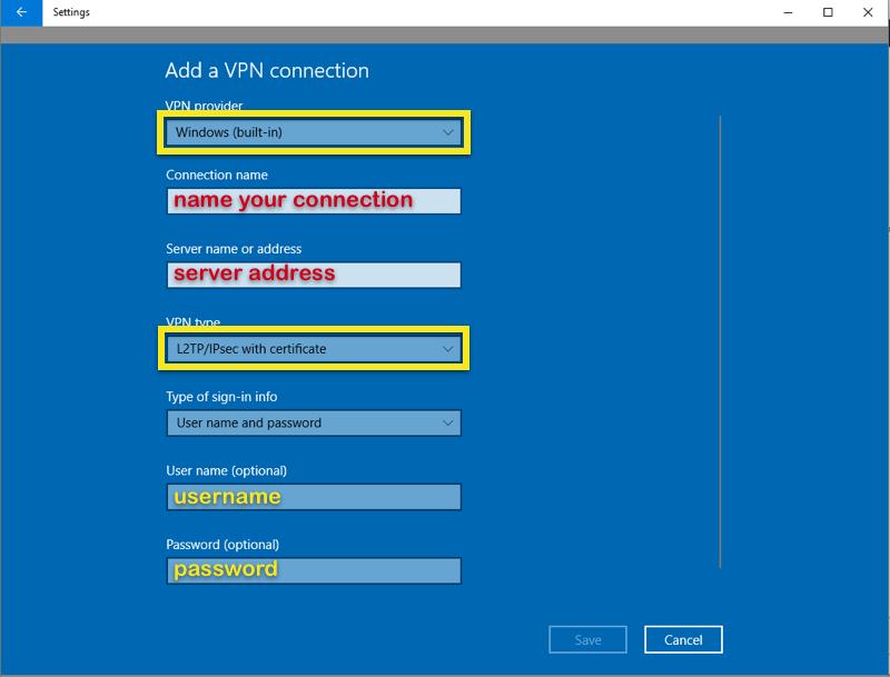 Praca zdalna w firmie - Windows 10 VPN Client